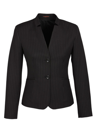 60213_Black_PinStripe_Short_Jacket_Reverse