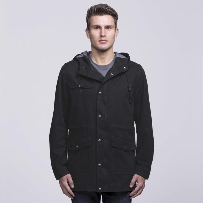 smpli-mens-black-heritage-twill-jacket-front