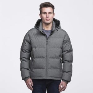 smpli-mens-grey-melange-invert-puffa-jacket-front