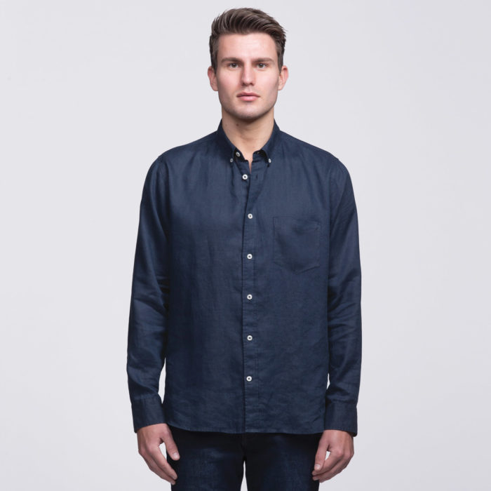 smpli-mens-navy-linen-shirt-front