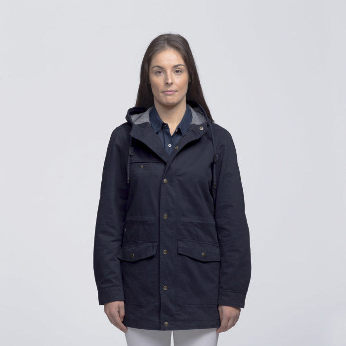 smpli-womens-navy-heritage-twill-jacket-front