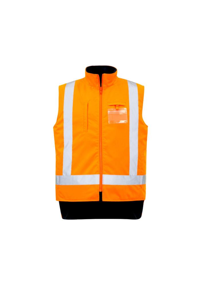 ZJ615_OrangeNavy_Vest_Front