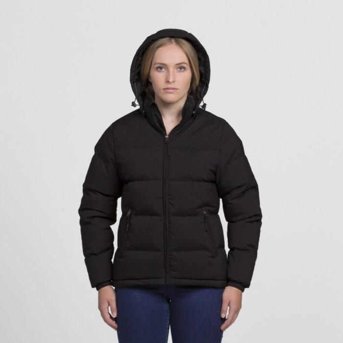 smpli-womens-black-edge-puffa-jacket-front-hood-up
