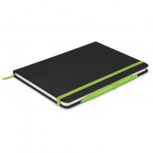 Omega Black Notebook with Pen