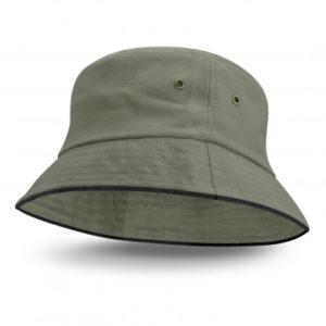 Bondi Bucket Hat - Black Sandwich Trim