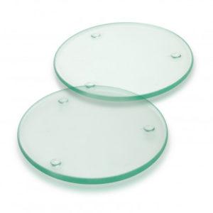 Venice Glass Coaster Set of 2 - Round