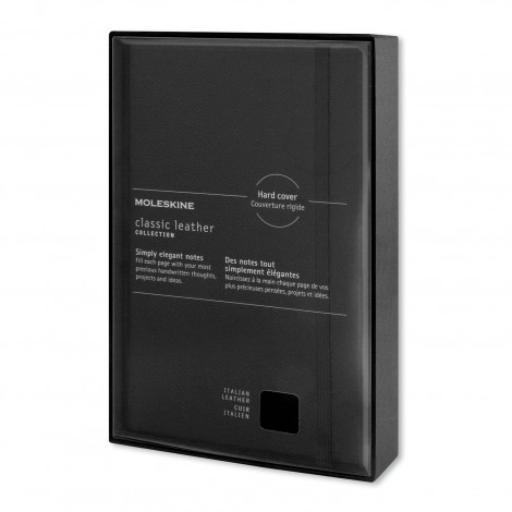 Moleskine® Classic Leather Hard Cover Notebook - Large