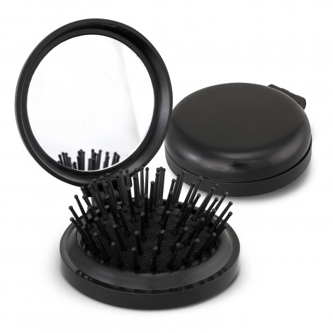 Compact Brush with Mirror